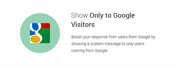 Show Only to Google Visitors