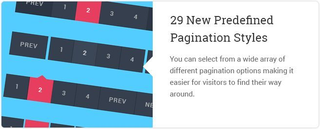 29 New Predefined Pagination Styles