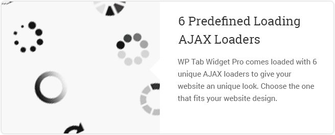 6 Predefined Loading Ajax Loaders
