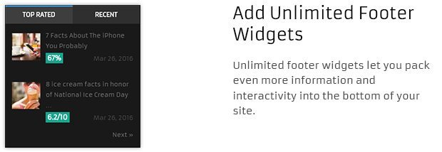 Add Unlimited Footer Widgets