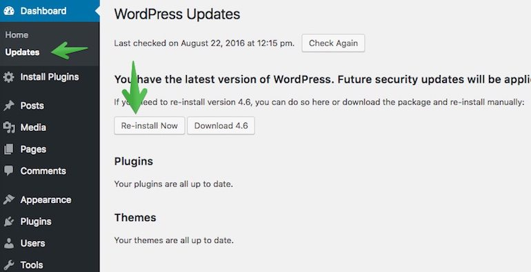 re-install-now-wordpress