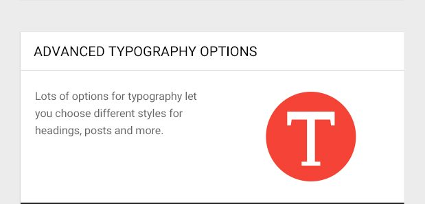 Lots of options for typography let you choose different styles for headings, posts and more.