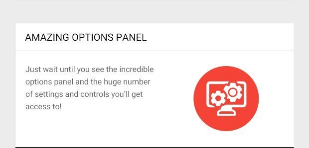 Just wait until you see the incredible options panel and the huge number of settings and controls you'll get access to!