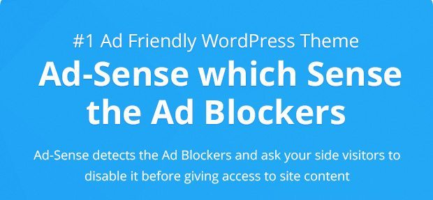 WordPress theme which detects Adblockers