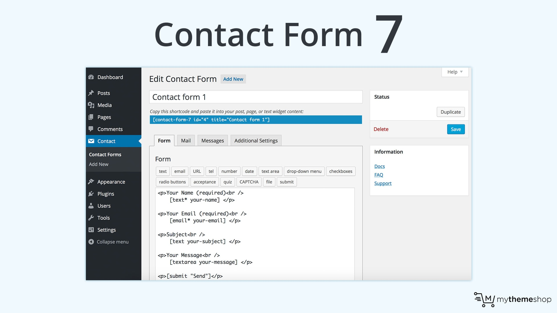 4) Contact Form 7