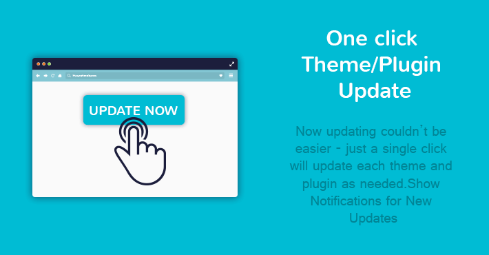One Click Theme Plugin Update