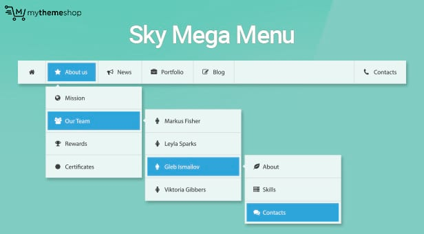 Sky Mega Menu