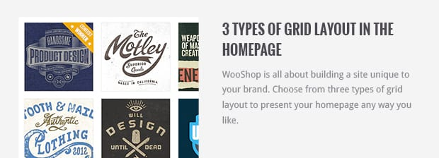 3 Types of Grid Layout in The Homepage