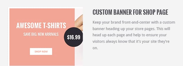 Custom Banner for Shop Page