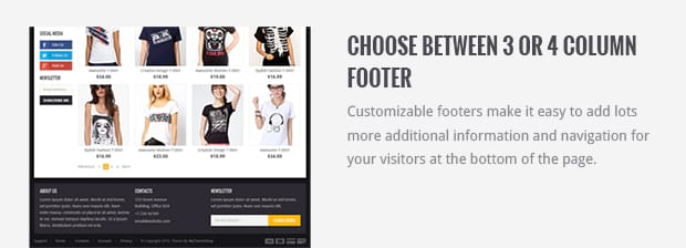 Choose Between 3 or 4 Column Footer