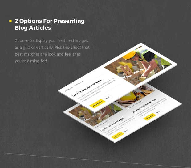 2 Options For Presenting Blog Articles