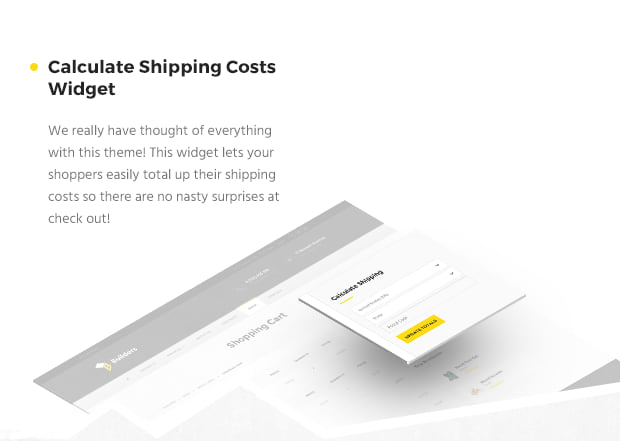 Calculate Shipping Costs Widget