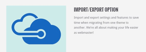 Import/Export Option