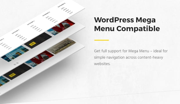 WordPress Mega Menu Compatible