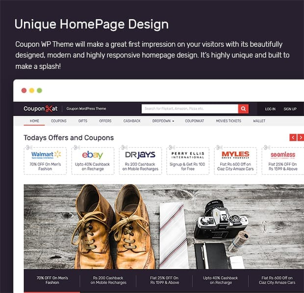 Unique HomePage Design