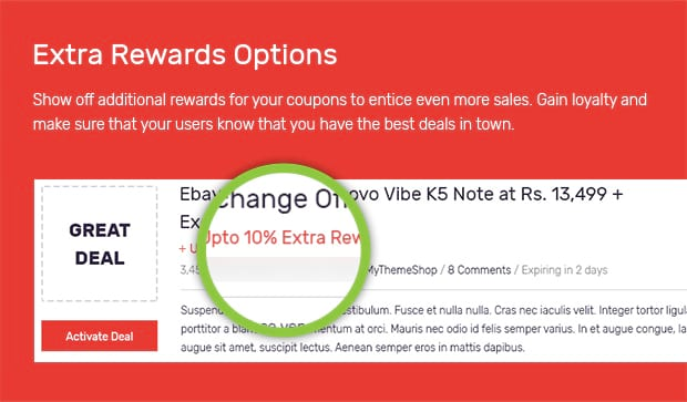 Extra Rewards Options