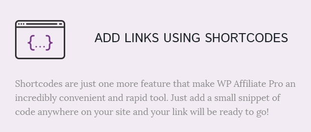 Add Links Using Shortcodes