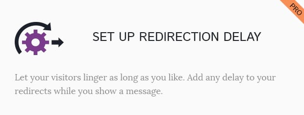Set Up Redirection Delay