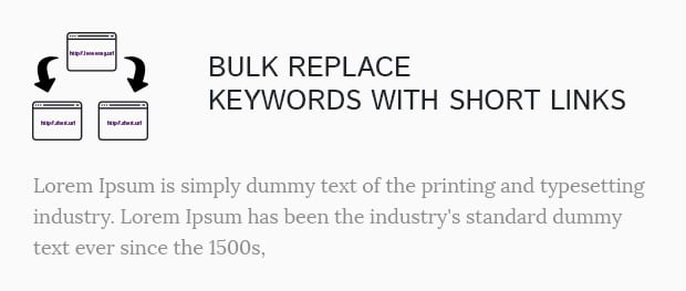 Bulk Replace Keywords with Short Links