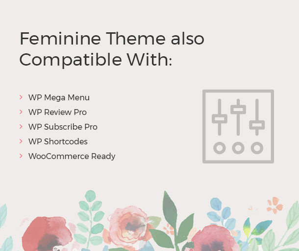 Feminine Theme also Compatible