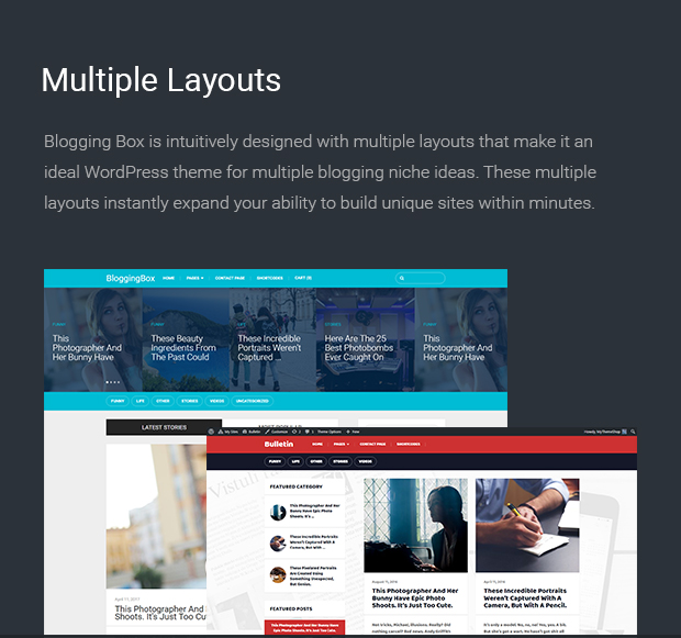 Multiple Layouts