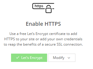 Enable Let's Encrypt HTTPS