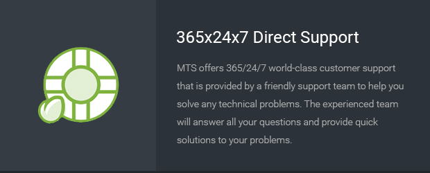 365x24x7 Direct Support