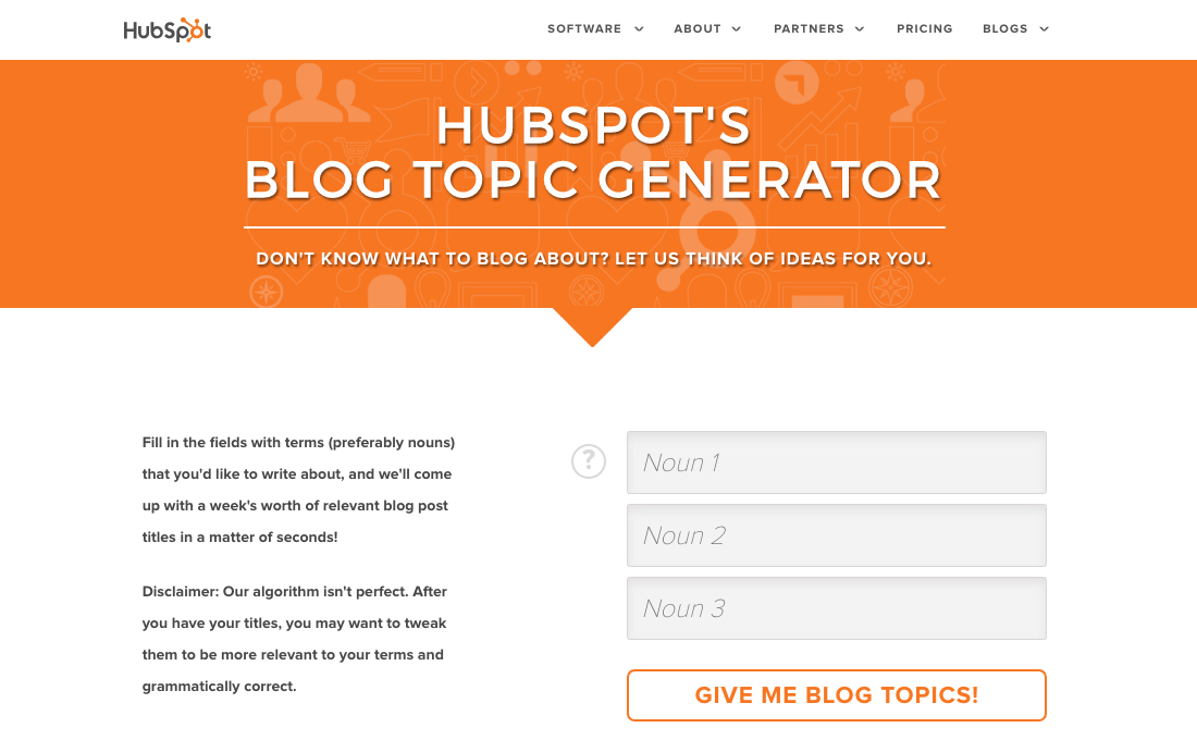 HubSpot's-Blog-Topic-Generator