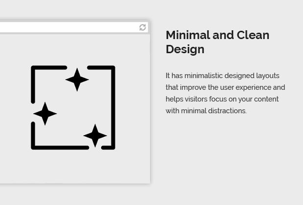 Minimal and Clean Design