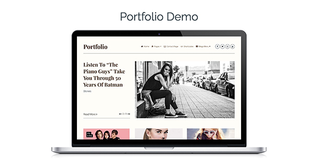 Clean Theme Portfolio Demo
