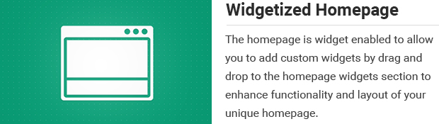 Widgetized Homepage