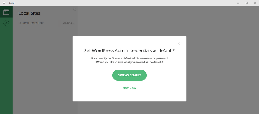 default-credentials-in-local-install-wordpress-locally