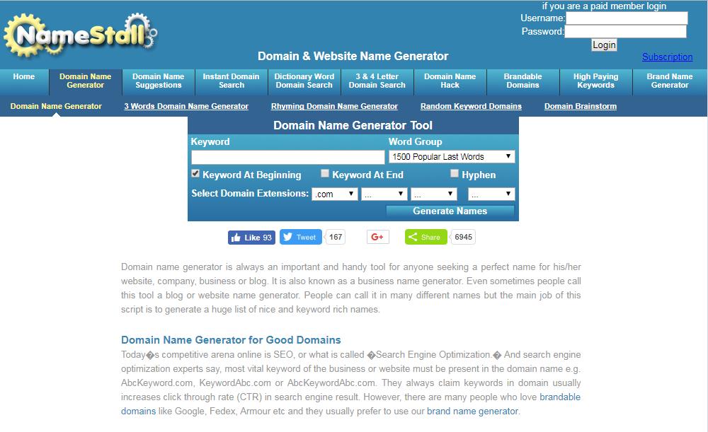 random domain name generator tool