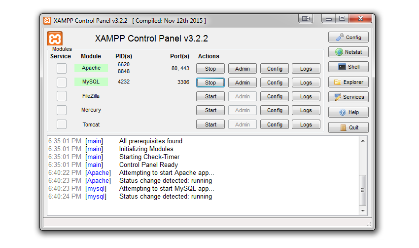 xampp-services-started
