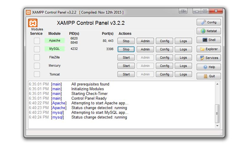 xampp-services-started